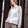 Новая Зима Кашемир Шею Толстовки Случайные Свободные Геометрические Цветочные Мода Топы