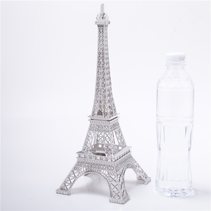 Cake Topper Decorative Wine Cabinet Silver  Eiffel Tower Decor Zinc Alloy Home Decoration Improvement Five Sizes