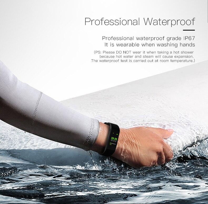Smart bracelet blood pressure heartrate W6S (4) -
