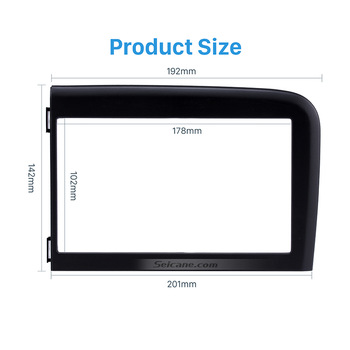 Seicane Double Din Install Dash Bezel Trim Kit for 2001-2006 Volvo S80 Dash Kit DVD GPS Decorative Frame Dashboard Panel image