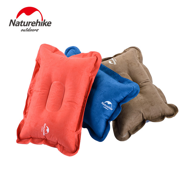 NatureHike Outdoor Traveling Comfortable Automatic Air Inflatable Cushion Pillow neck pillow Tourist 42*28*12cm Tent Accessories