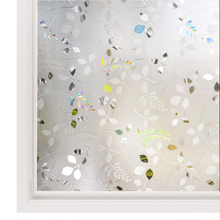 Funlife Privacy Window Film Frosted No Glue Self-adhesive Anti-UV Sticker Vinyl Decoration Cling Glass