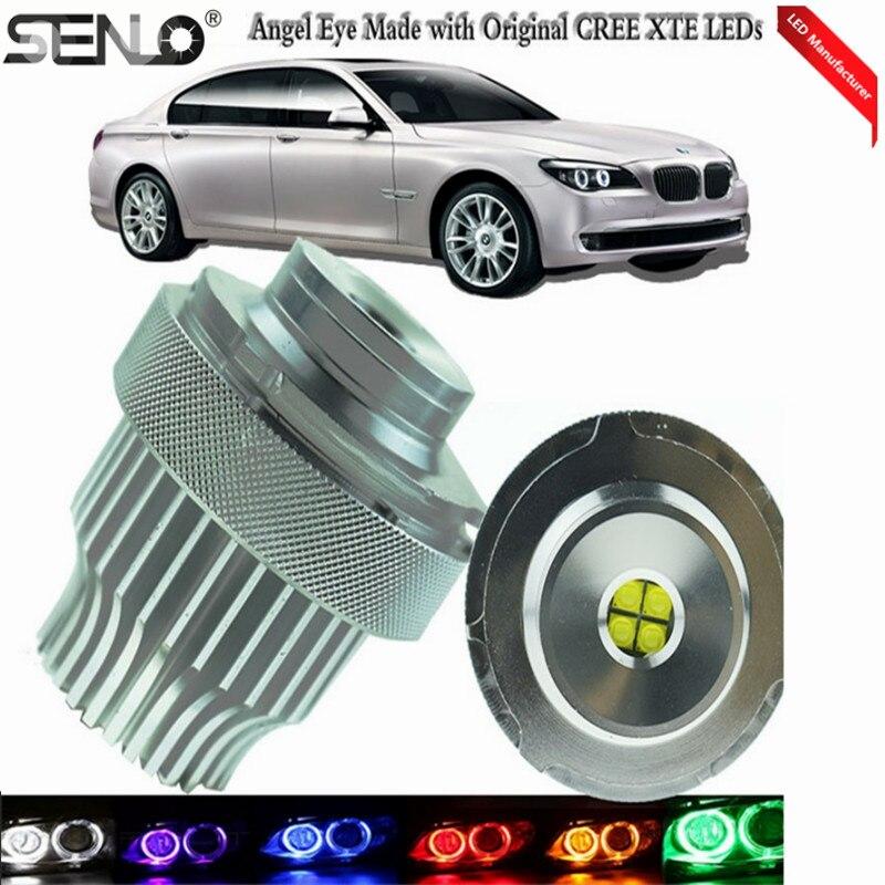 Explosion E60 Ange Yeux Lumières 2x40 Watts Automatique Sans Erreur indicateur LED Ampoules Pour BM W E39 E53 E61 E63 E64 E65 525i 530i xi 545i M5