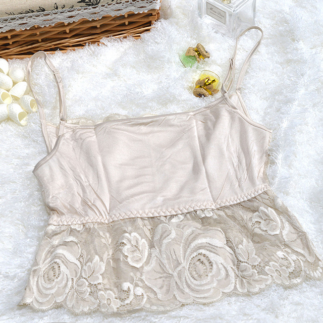 Summer Anti Silk Underwear Wrapped Chest Lace Camisole Backing Block Little Lady