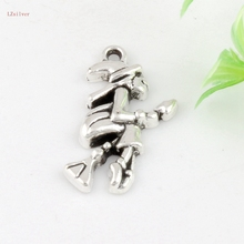 Hot ! 100pcs 14x25mm Ancient Silver Single-sided Witch Broom Stick Charm DIY Jewelry  kl02