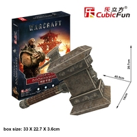 Cubicfun 3D puzzle paper model DS0941h jigsaw world of war orgrim's Doomhammer hammer storm tower assembled children game 1pc