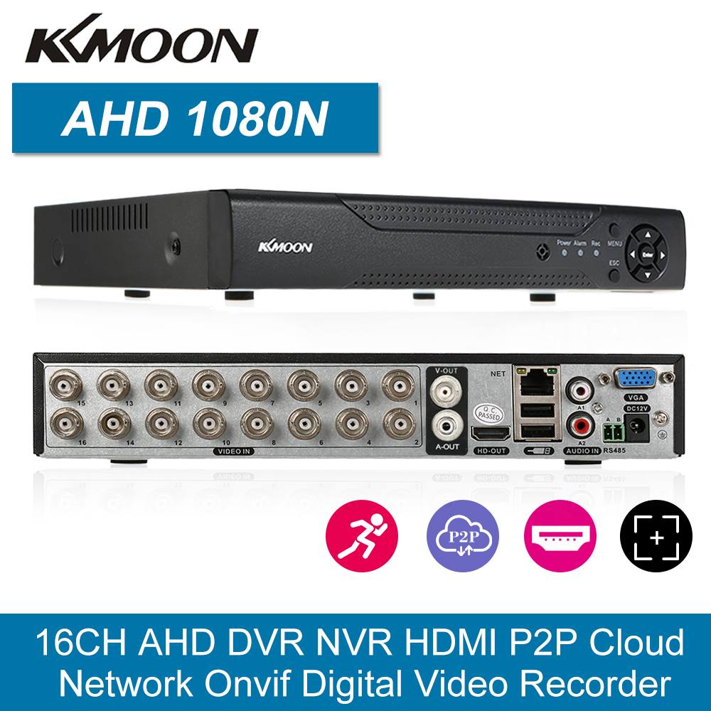16CH 1080P Hybrid 5-in-1 Digital Video Recorder P2P Cloud Network Onvif Video Recorder CMS Browser View Motion Detection PTZ image