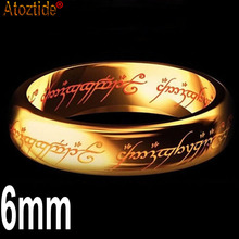 Atoztide Brand Midi Stainless Steel the Lord of the One Power Rings Lovers Women Men Fashion Jewelry