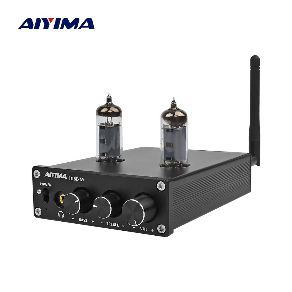 AIYIMA Bluetooth 4.2 TPA3116D2 Power Digital Home Amplifiers Audio Board 50Wx2 HiFi Stereo Vacuum 6J4 Tube Amp Amplificador