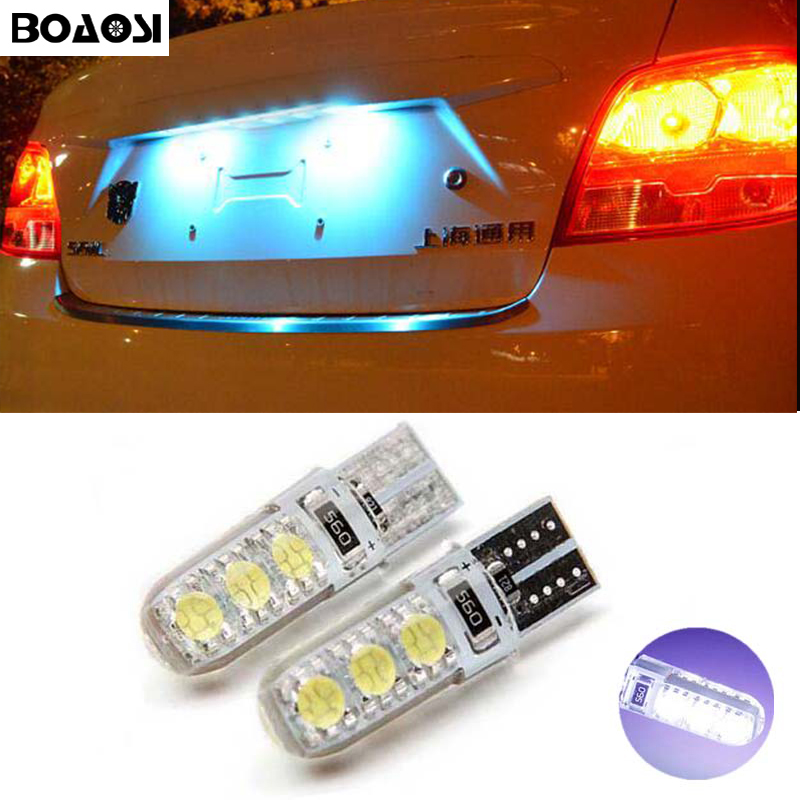 2x Super bright License plate Light No Error T10 5050SMD LED For Land Rover Discovery Range Rover Evoque Freelander Defender