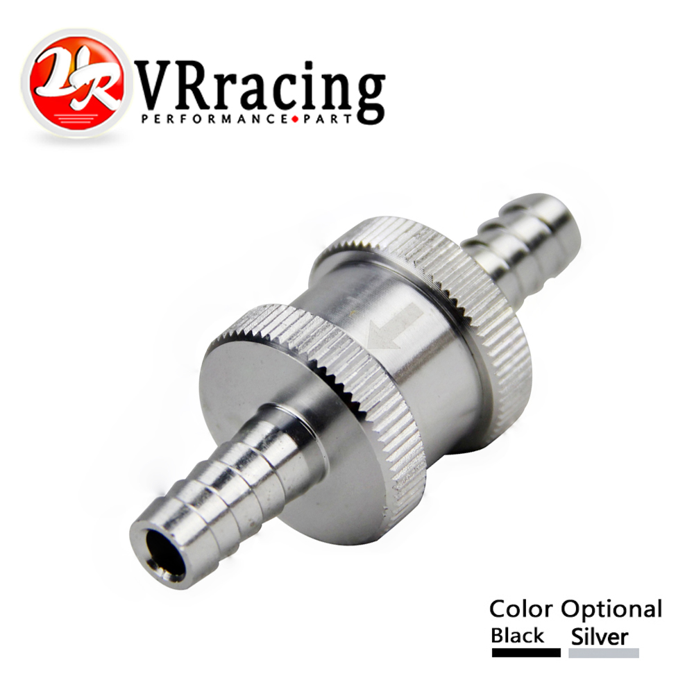 VR RACING - 5/16 8mm Non Return One Way Fuel Check Valve Aluminium Alloy Petrol Diesel VR-FCV08