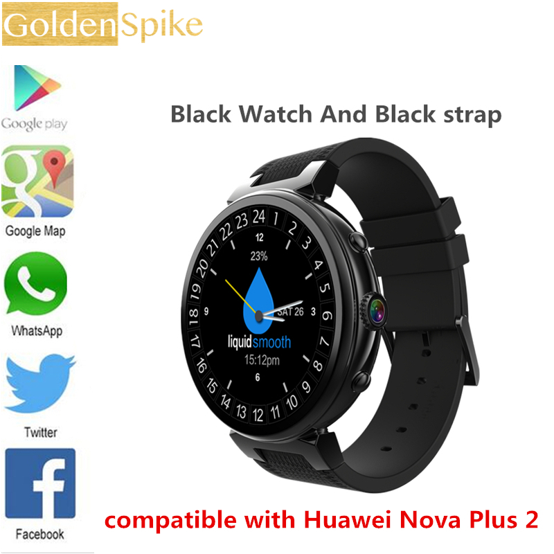 US $78 99 21% OFF|2019 Smart Watch Android 5 1 OS MTK6580 Quad Core 1 3GHz  2GB + 16GB Smartwatch Support Google Play Google Map 3G GPS Wifi pk Z28-in