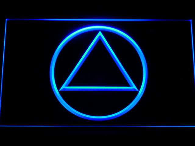 A213 Alcoholics Anonymous Aa Led Neon Sign With Onoff Switch 20