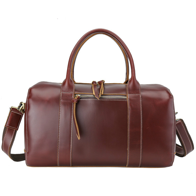 High Quality Men s Travel Bag Leather Overnight Travel Duffle Bags Brand  Designer Carry on Male Hand Luggage Tote Large Weekend 884acbdc10438