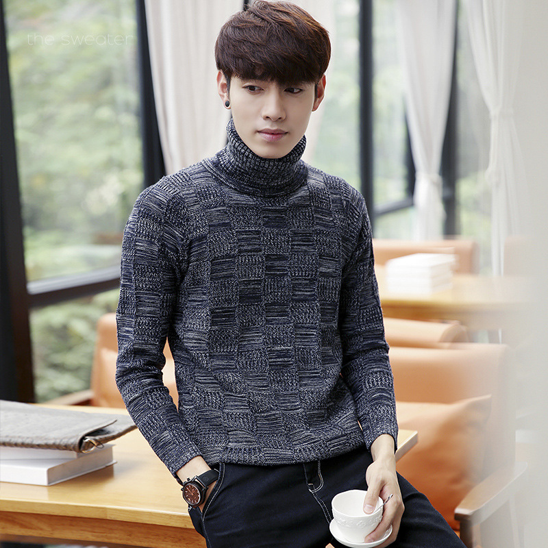 Autumn New Men's Downneck Cultivate Man Knit Pullovers
