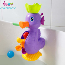 Cute Duck Waterwheel Dolphin Toys Bath Toy Kids Shower Bath Toys Spraying Tool Wheel Type Dabbling Toy Baby Faucet Bathing Water