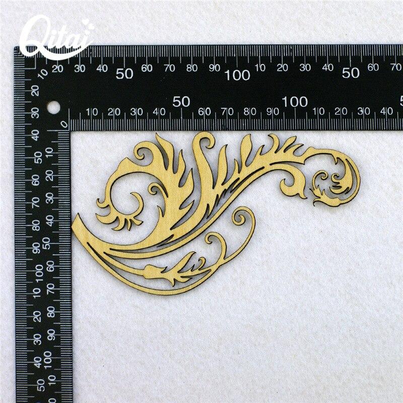 QITAI 12 Stuks / partij Houten Decoratie Plakboek Ambachten Verpakt - Huisdecoratie - Foto 5