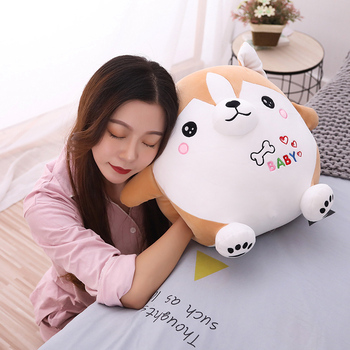 cute shiba inu plush dog toys soft stuffed animal doll sofa pillow cushion birthday gift for children kids toy home decor 18cm genuine husky plush toys cute soft animal dog toys doll creative gift for kids birthday gift