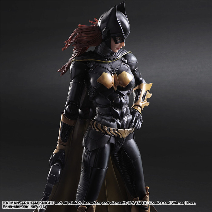 2017 Play Arts Arkham Knight 25cm Female Batman Batgirl Figure Toys фигурка dcd batman arkham knight arkham knight