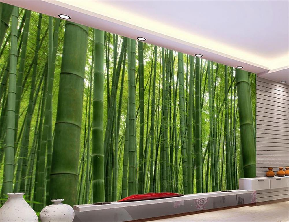 3d wallpaper photo wallpaper custom living room murals spring bamboo forest 3d painting sofa TV background wallpaper for wall 3d