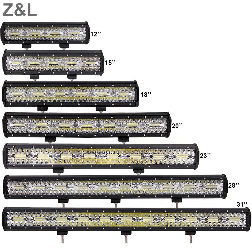OFFROAD LED DRIVING LIGHT BAR CAR SUV TRUCK TRACTOR 4WD ATV BOAT RZR COMBO 12V 24V
