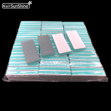 50pcs Green Nail Buffer File Sponge Nail Shiner 600/3000 Acr