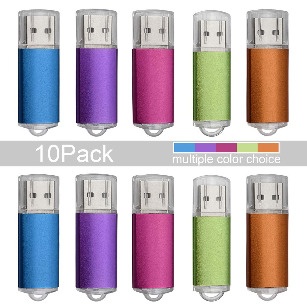 10PCS Colorful Rotating 1GB-32GB USB Flash Drive Enough Memory Stick Thumb Drive