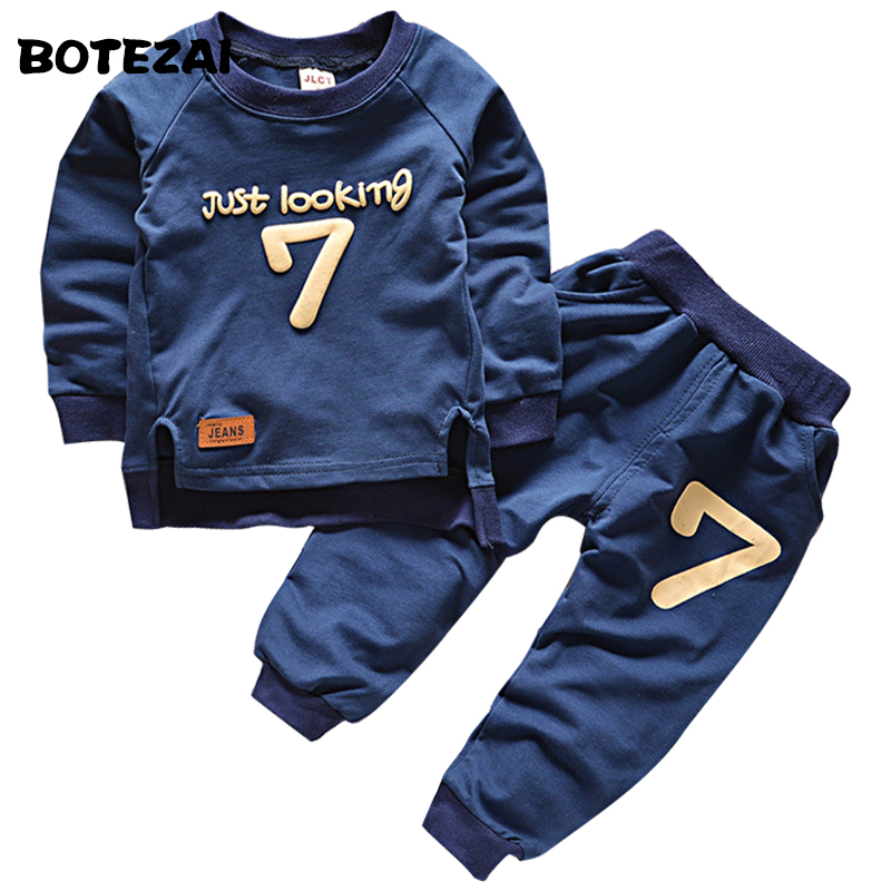 2016 Spring Autumn Children Clothing Boys Girls Keep Warm Long Sleeve Sweaters+Pants Fashion Kids Clothes Sports Suit for Girls
