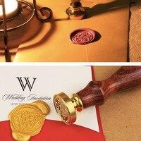 Copper Wax Badge Stamp Kit Envelope Seal A Z Alphabet Initial Letter For Letter Gift Card