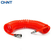 CHINT Pneumatic Spring Tube With Quick Connector Air Pump Press PU Spiral The Resistance High Pressure Hose