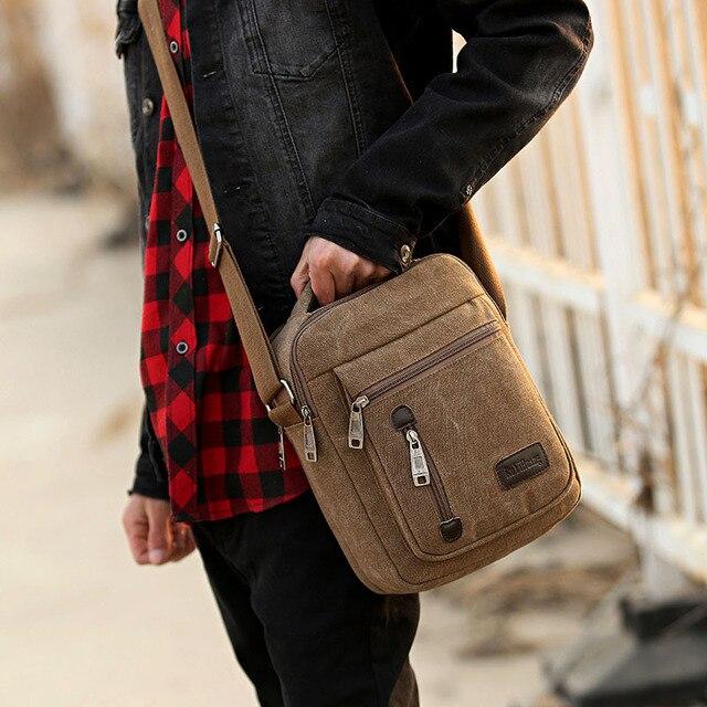 da29bb3fdf8e US $4.82 10% OFF|2018 Men's Travel Bags Cool Canvas Bag Fashion Men  Messenger Bags High Quality Brand Bolsa Feminina Shoulder Bags-in Crossbody  Bags ...