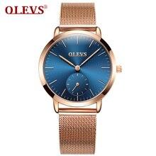 OLEVS Quartz Ladies Watch 2017 Top Brand Luxury Full Steel Gold Watches Fashion Sport Clock Women Wristwatches relogio feminino