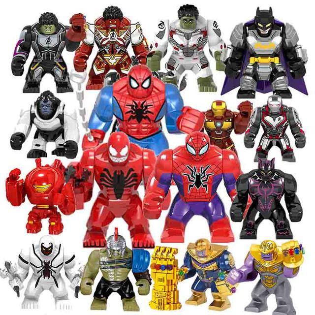 4 Final Wars Super-heróis vingadores Hulk Capitão Thanos Maravilha Spider-man Figuras Blocos de Construção de Brinquedo Tijolos Para Crianças