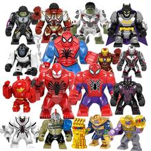 Avengers 4 Final Wars Superheros Hulk Thanos Captain Marvel Spider-man Figures Building Blocks Bricks Toy For Children
