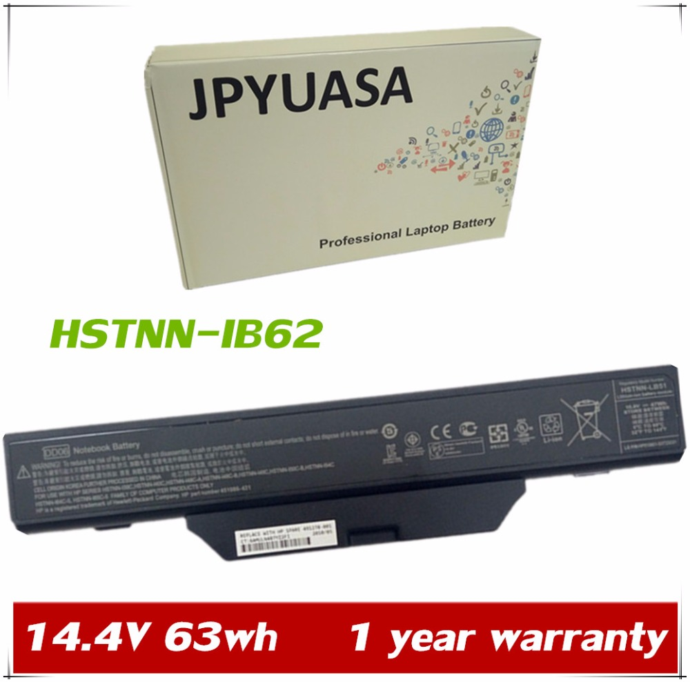 JPYUASA 14.4V 63wh HSTNN IB62 Laptop Battery For HP Compaq 510HP 511HP 610  6720S 6730S 6735S 6820S 6830S HSTNN OB62 DD08 DD06-in Laptop Batteries from  ...