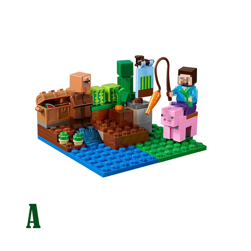 LEPIN The Melon Farm Nether Fight Minecraft My World Building Block Bricks Toy For Children Compatible legoINGly 21138 21139 1
