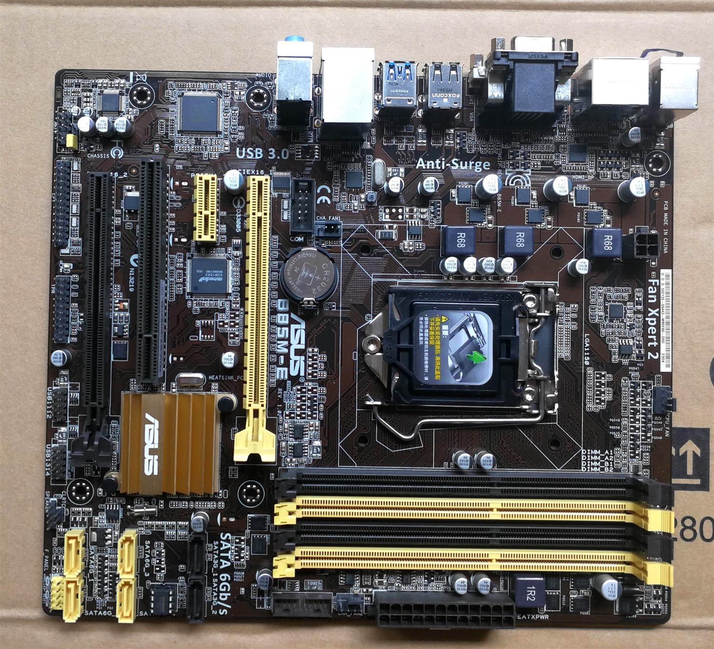 Utilisé, pour Asus B85M-E carte mère B85 Socket LGA 1150 i7 i5 i3 DDR3 32G SATA3 USB3.0 micro-atx
