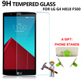 1pcs Tempered Glass for LG G4 H818 F500 Screen Protector for LG G4 H818 F500 9H 2.5D 0.33mm Screen Protective Glass Film