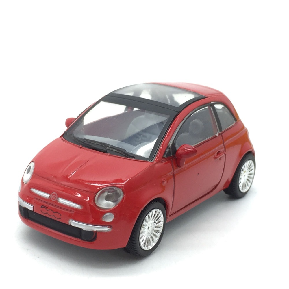 1:43 scale alloy <font><b>car</b></font> <font><b>model</b></font> toys,high imitation Fiat 500,collection toy vehicles,free shipping image