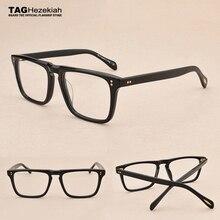 نظارات إطار 2019 جديد ماركة Hezekiah نظارات الرجال النساء ريترو موضة قصر النظر الكمبيوتر نظارات بصرية ov5189t نظارات