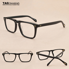 メガネフレーム2019新規タグhezekiahブランド眼鏡メンズ · レディースレトロファッション近視コンピュータ光学ガラスov5189t眼鏡