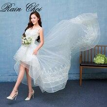 A Line Wedding Dress 2017 V Neck  Sweep Train Charming Bridal Gown vestido de novia