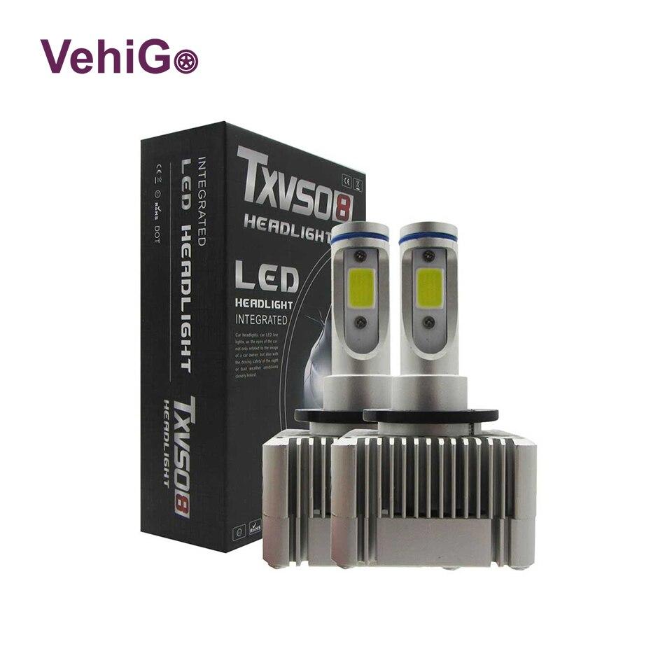 VehiGo D1S Car LED Light Bulbs 6000K White 36W LED Lamp Bulbs Plug&Play Auto D1S D3S LED Headlight Bulbs 12V 24V
