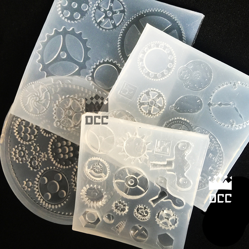 1 Stück Getriebe Kombination Diy Silikon Kristall Gummi Form Transparent Klar Handgemachten Schmuck Harz Formen Für Schmuck