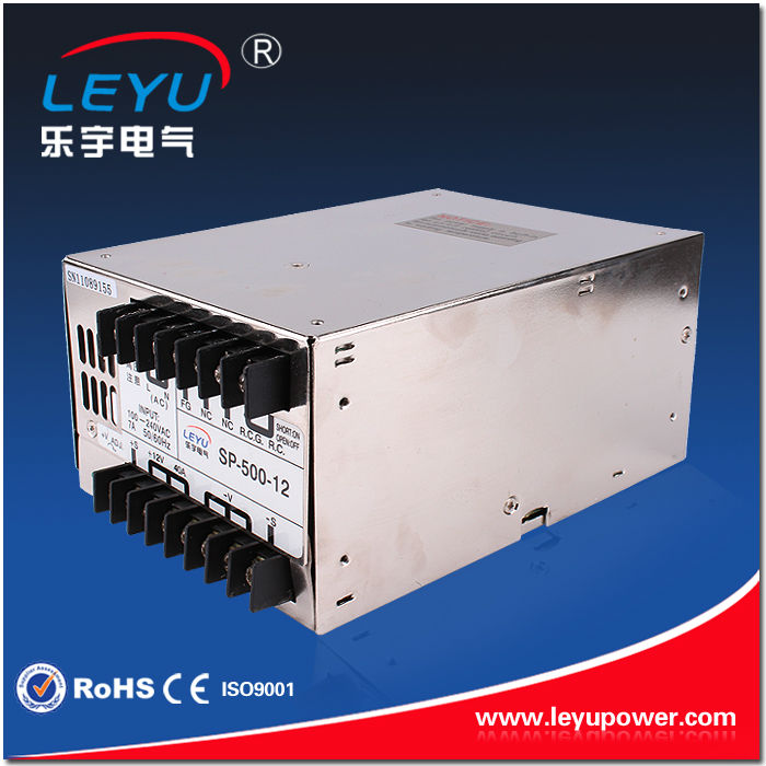 High frequency PFC function SP-500-24V AC DC single output  LED lighting switching power supplyHigh frequency PFC function SP-500-24V AC DC single output  LED lighting switching power supply