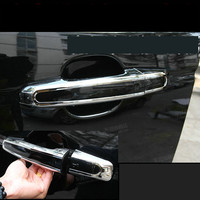 8PCS Car Styling Matt Chrome ABS Door Handle Cover Sticker For LAND ROVER DISCOVERY SPORT Exterior