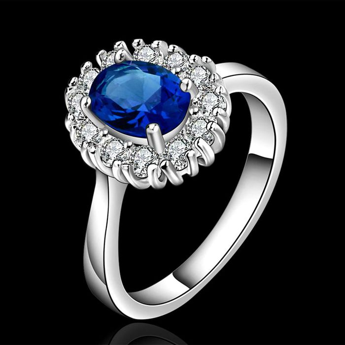 Wholesale 925 jewelry silver plated ring.925 sterling silver fashion jewelry. fashion ring /bjtakbaa cvzalnga LKNSPCR649 C-in Rings from Jewelry ...