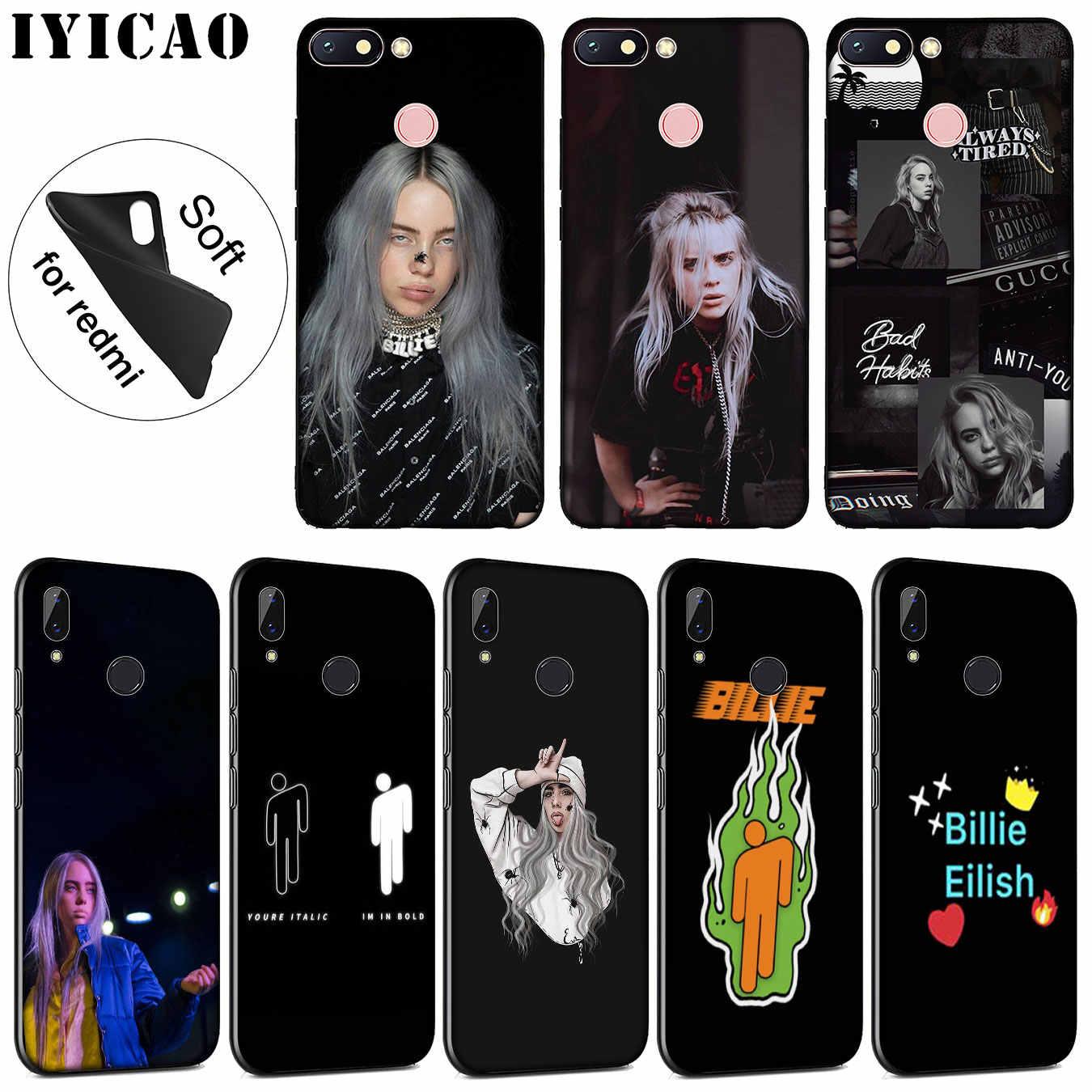 IYICAO Billie eilish Мягкие силиконовые чехол для телефона Xiaomi Redmi 6A 5A Примечание 7 4X5 плюс 6