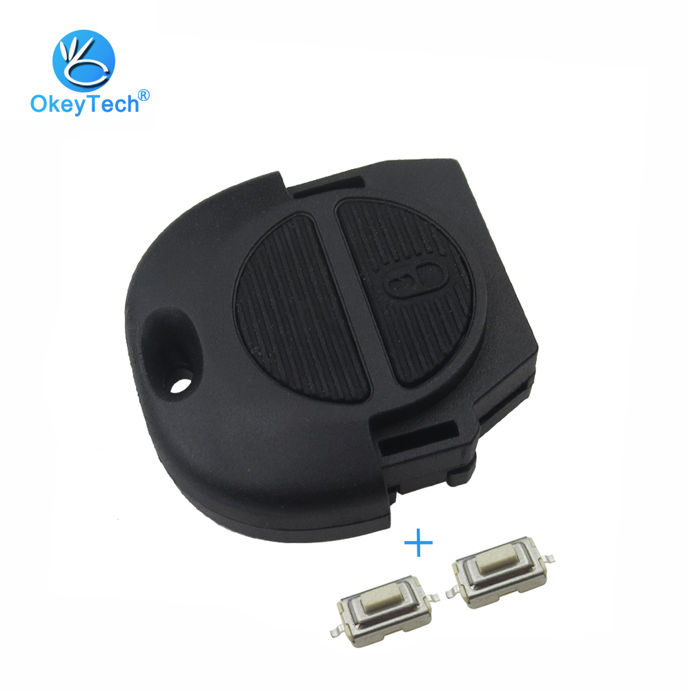 OkeyTech for Nissan Key Shell 2 Button Replacement Auto Car Case Fob with 2 Micro Switch for Nissan Micra Almera Primera X-TrailOkeyTech for Nissan Key Shell 2 Button Replacement Auto Car Case Fob with 2 Micro Switch for Nissan Micra Almera Primera X-Trail
