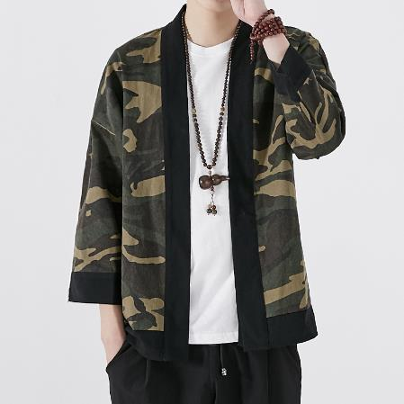 2018 summer men clothing cotton cardigan male streetwear hiphop casual coat loose kimono Japan Style Hiphop Kimono Jacket